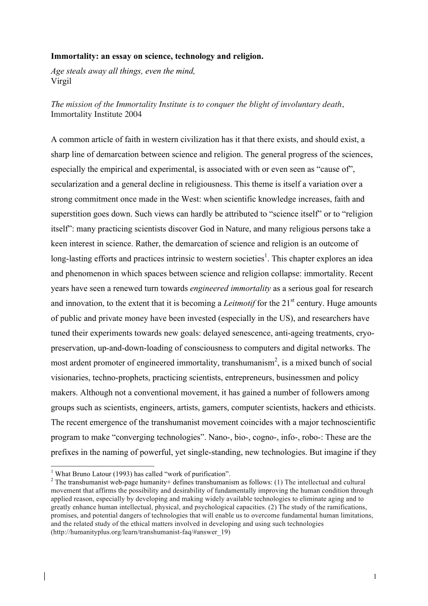 Science technology essay