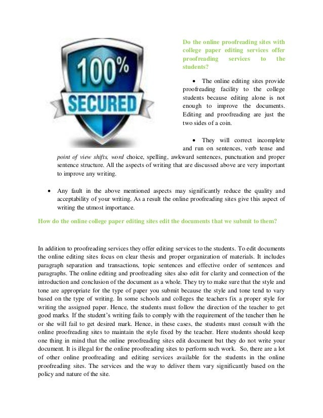 Proofreading mba application essay