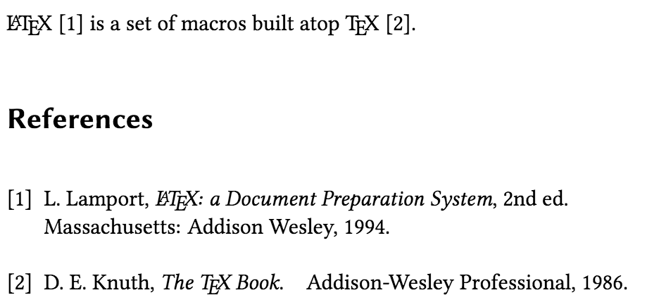 multiple reference Latex