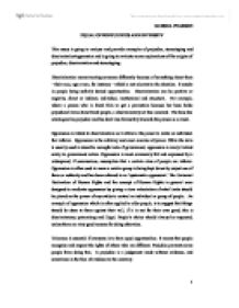 Oppression essay