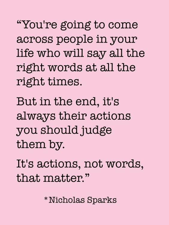 Do actions speak louder than words essay