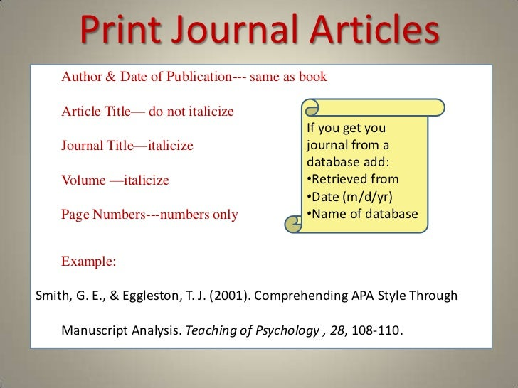 How to include journal article in essay