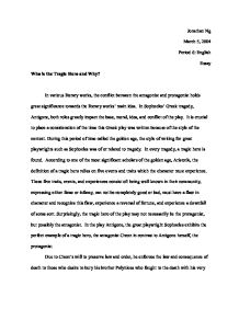 Essay on tragedy