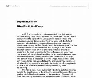 My Opinion on the Movie Titanic - Words | Essay Example