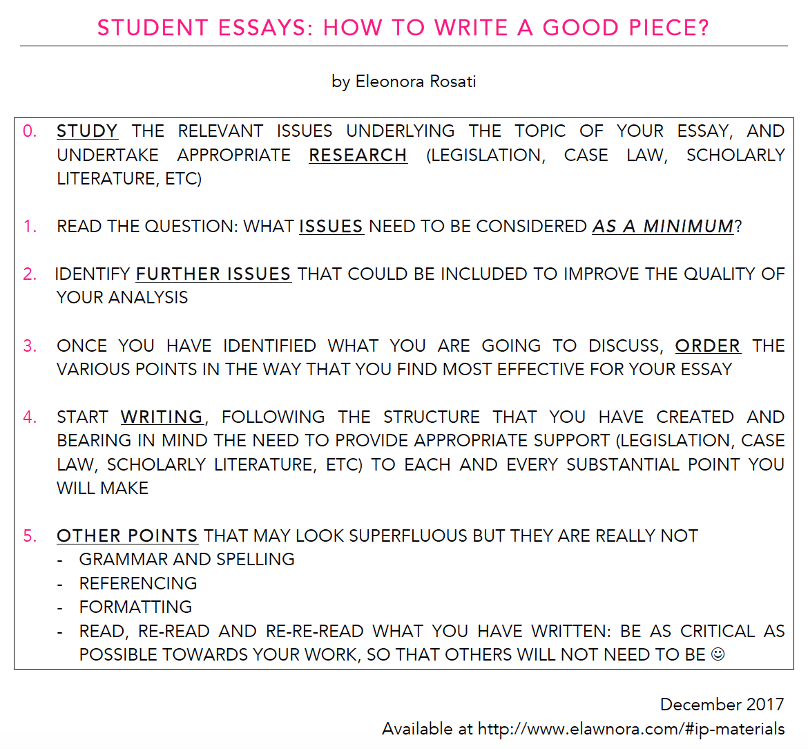 What makes a good college essay