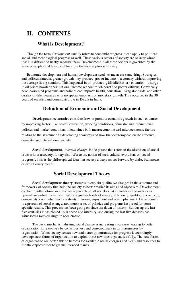 Essay on social development
