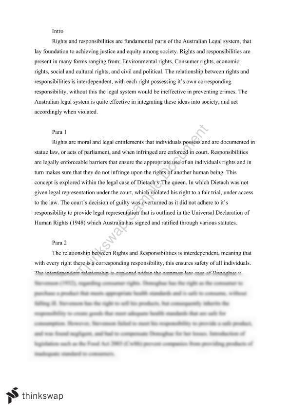Hsc legal studies world order essay