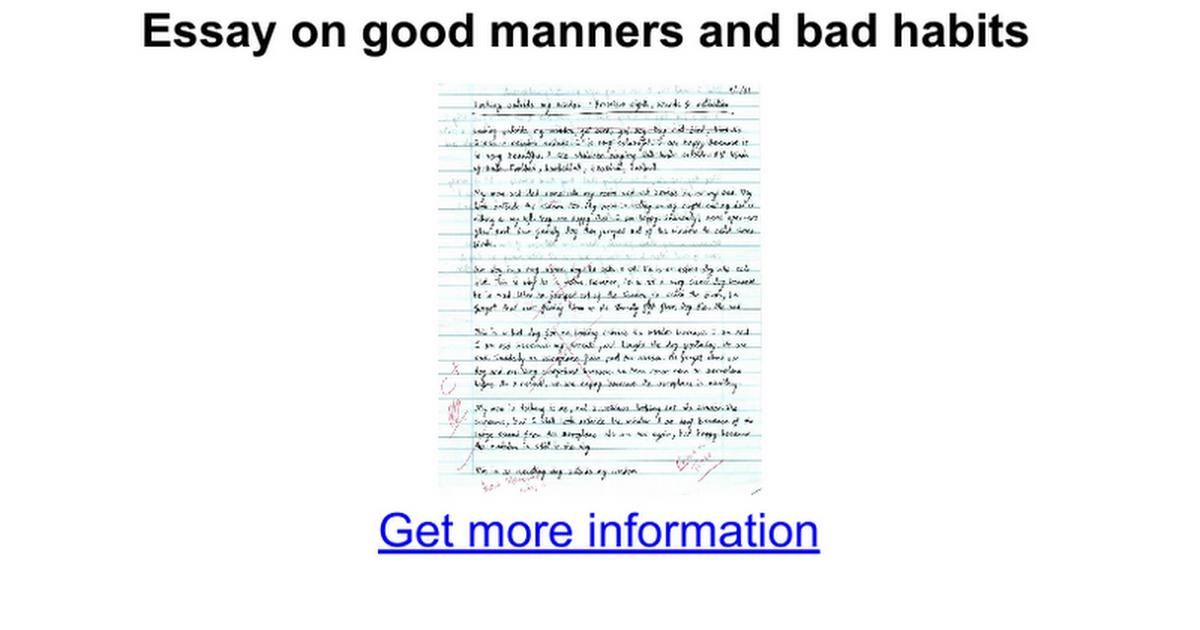Good habits essay
