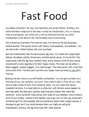 Healthy eating essays