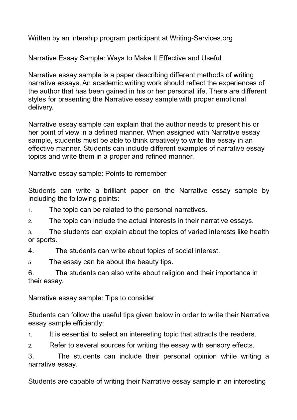 Essay for mba application