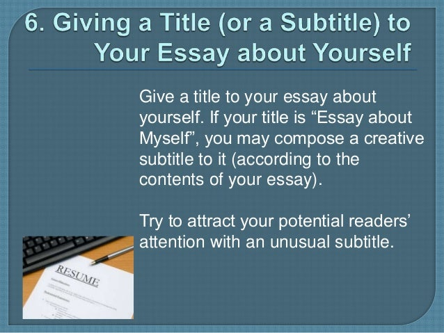 Creative titles for essays
