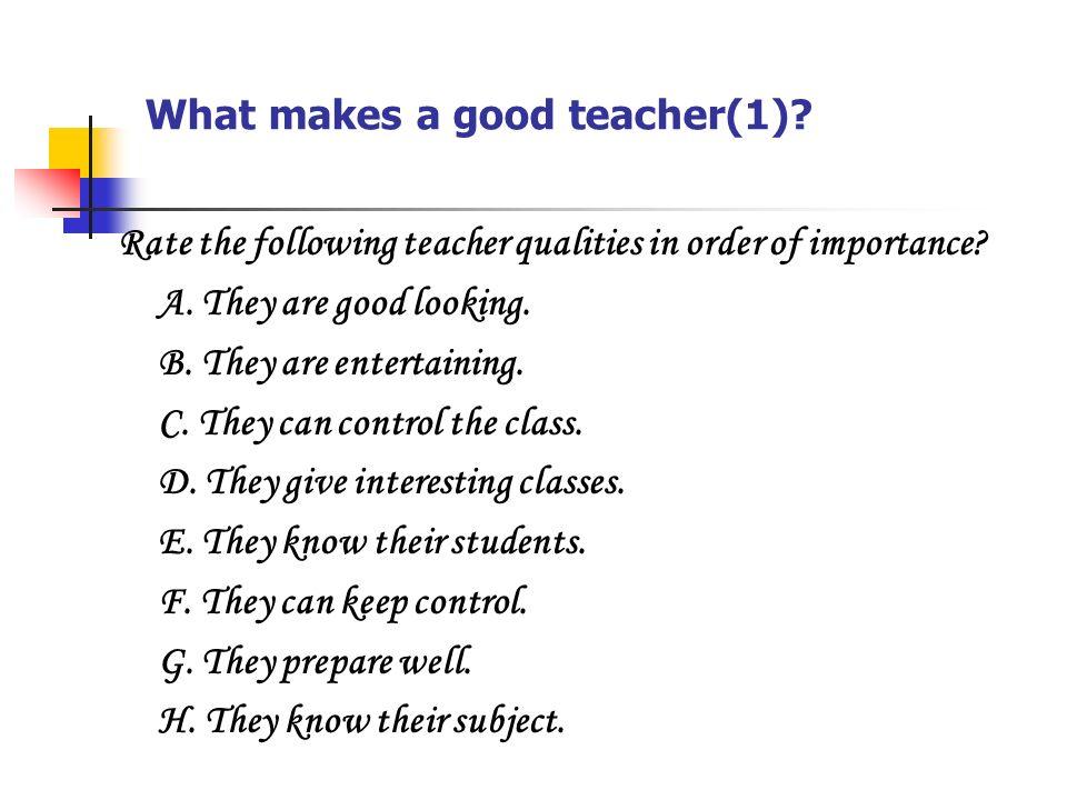 What makes a good teacher essay