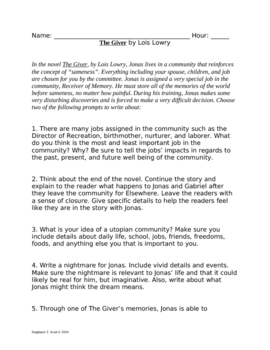 Free Giver Essays : The Giver - Words | Bartleby