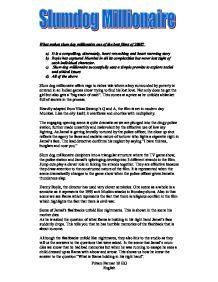Reflection on the Film Slumdog Millionaire: [Essay Example], words GradesFixer