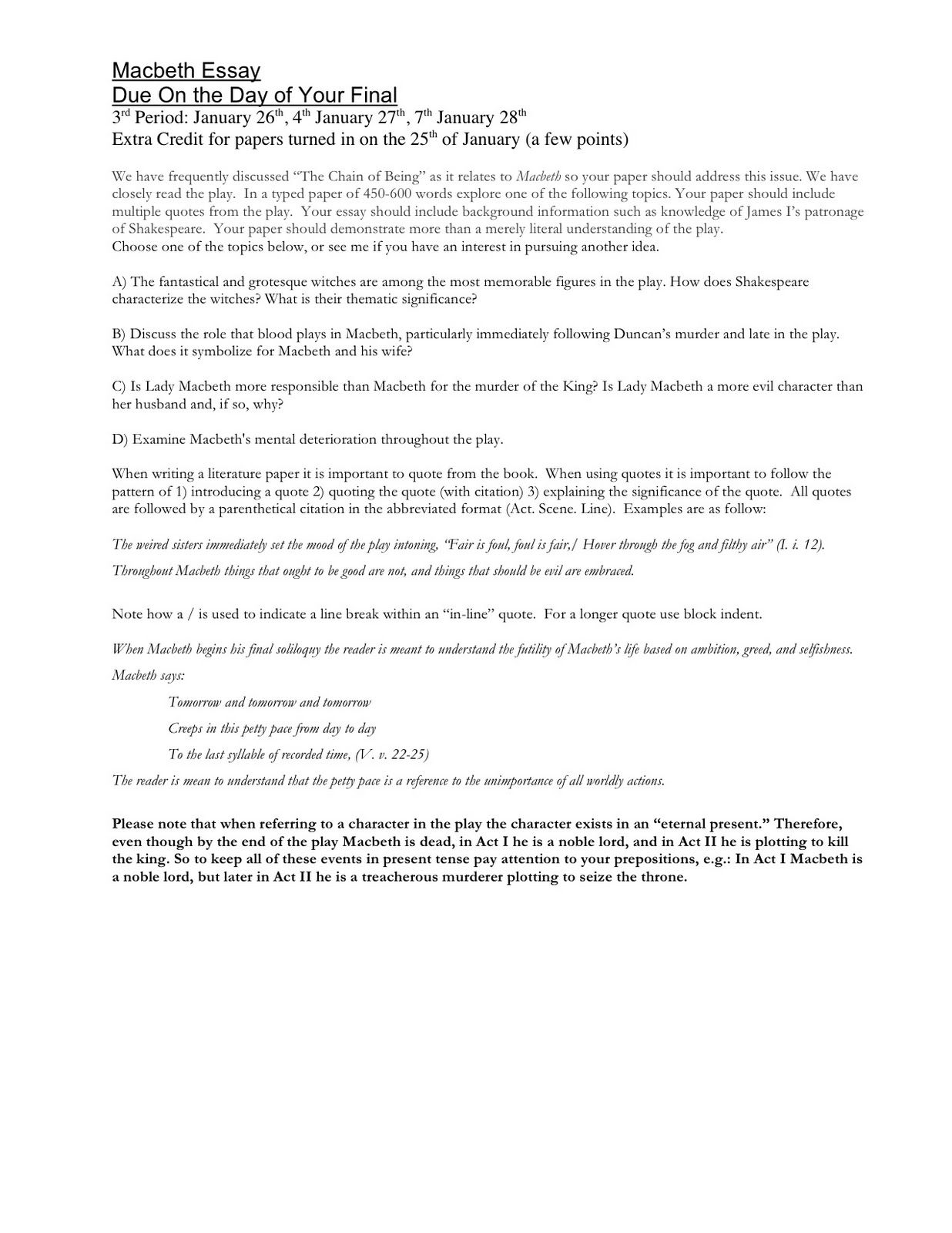 Macbeth Essay Examples (Prompts and Questions) - Free Literary Analysis Essays and Research Papers